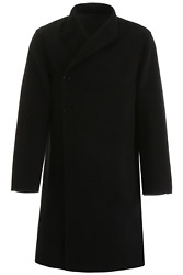 New Dior Double Wool Coat 933c324a3840 Noir Authentic Nwt