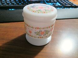 Avon Vintage Glass 💖Hearts and Flowers 💖Covered Lid Container no chips