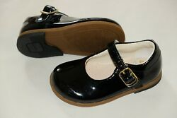 Clarks Baby Girl Black Patent Leather First Shoes Infant Size 5.5/22 E Narrow