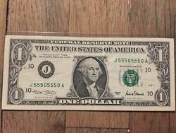 2001 1 Perfect Repeater 2 Digit Nice Quality Paper Money
