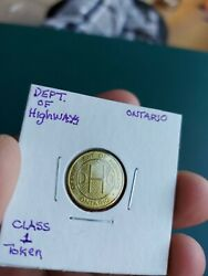 Dho Department Of Highways Ontario Class1 Vehicle Trade Token Coin