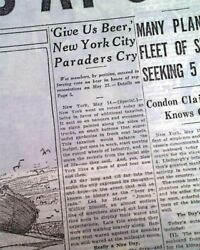 We Want Beer New York City Parade Anti-prohibition March 1932 Nyc Old Newspaper