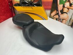 🔥08-20 Oem Harley Touring Cvo Rider Solo And Passenger Pillion Seat Red Stitching