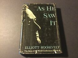 As He Saw It By Elliot Roosevelt Signed First Edition Fdr Bio