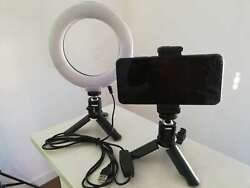 Fodoto 6 Table Top Led Bicolor Dimmable Led Ring Light With Mini Tripod Stand