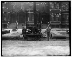 1900 Photo Of Worker Possibly Doing Pipeline Construction For Gas Company With C