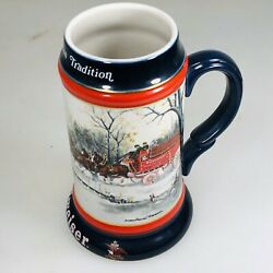 1990 Budweiser Holiday An American Tradition Stein Anheuser-busch Hand Crafted