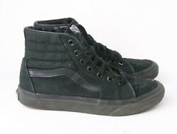 Vans Off The Wall High Top Black Suede Sneaker Shoes Size Men's 5.5 Wo's 7