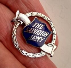Vintage And039 The Salvation Army And039 Members Blue Enamel Badge