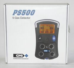 Gmi Ps500 61368 5-gas Personal Safety Gas Monitor Co Lel H2s O2 Datalogging
