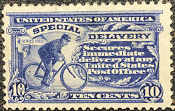 Scott E11 Us 1917 10 Cent Special Delivery Messenger Stamp