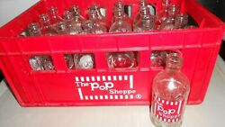 Vintage The Pop Shoppe Carrier Crate Tote Storage + 24 Cola Bottles F/s