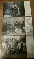 1907 Black Americana Postcards Lot, Us Fo And No Mo, Dead Game Sports,knoxsville