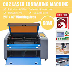 Omtech 60w 24x16 Bed Co2 Laser Engraving Cutting Engraver Cutter With Lightburn