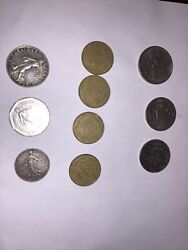 Republique Francaise 10 Quality Coins W/ 1917 And Up 1-2-5 And 20 Francs
