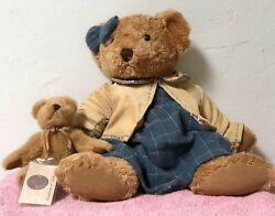 Russ Berrie Vintage Collection 44712 Lady Quinn, 14 Mama Bear And Her Cub Euc