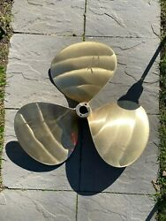 Stone Marine 3 Blade Bronze Props 30x27 Rh And Lh 2in Bore Recently Reconditioned