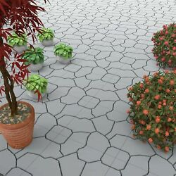 Outdoor Patio Deck Snap Tiles 11.5 X 11.5 Set Of 6 Water Drainage Faux Stone