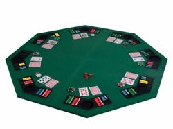 8 Players Octagon Fourfold Poker Table Top Cup Chip Holders Blackjack Card Game