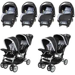 Baby Trend Infant Car Seat 4 Pack And Sit N Stand Double Stroller 2 Pack