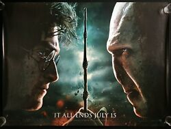 Harry Potter And The Deathly Hallows Part 2 Original Quad Movie Poster Mint 2011
