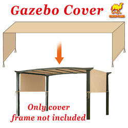 Universal Replacement Canopy Top Cover 18and039x8.3and039 For Pergola Structure Green Tan