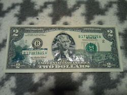 2 Dollar Bill Series 2003a With Hawaii And Honolulu Overlay Decals