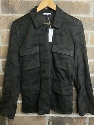 425 New Nwt James Perse Camo Military Jacket Size 2 M