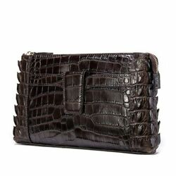 Men Leather Luxury Brand Handbag Alligator Day Clutches Bags Long Wallets Purse $110.05