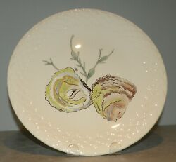 New Dinner Plate Oysters Hand Painted Grands Crustaces Pattern From Gien