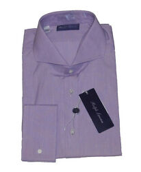 Purple Label Italy Mens Solid French Cuff Keaton Button Dress Shirt
