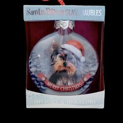 Yorkshire Terrier Yorkie Ornament Santa Paws Glass Baubles Dog Christmas 3quot;