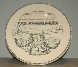 New Round Cheese Platter , Les Fromages, Gastronomie Pattern From Gien