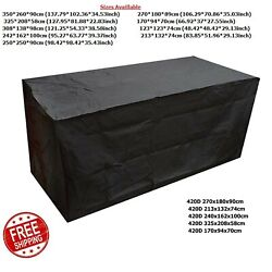 Large Waterproof Garden Furniture Cover Covers Patio Cube Outdoor Rattan Table
