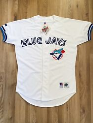 Rare Toronto Blue Jays Russell Athletic Mlb Baseball Authentic Game Jersey 42