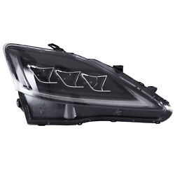 Free Shipping To Pr For 2006-2013 Lexus Is350 Sedan Clear Led Headlights W/drl