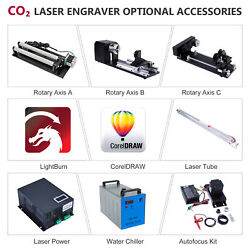 Co2 Laser Engraver Accessories - Laser Tube Rotary Axis Power Chiller Autofocus
