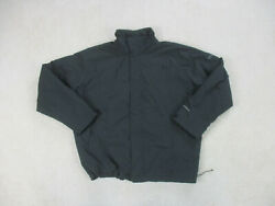 Columbia Jacket Adult Extra Large Black Gray Field Gear Outdoors Coat Mens