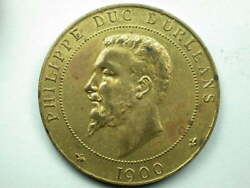 French 1900 Philippe Duc Dorleans Medal/token