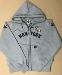 Blue Marlin Vintage Womenandrsquos New York 1903 Heavyweight Zip Up Hoodie Size L