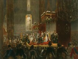 Oil Painting On Canvas Homage From The Imperial Family To Alexander Ii.