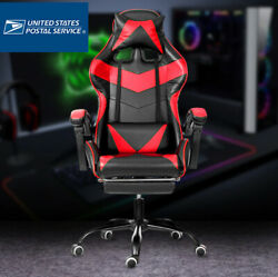 Leather Gaming Chair Home Internet Cafe Racing Style Seat Wcg Ergonomic Computer