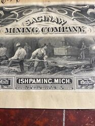 351 Saginaw Mining Co Ishpaming Michigan Gold Mine Proof Extra Rare