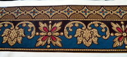 Antique 19th Century C.1880 Hand Painted 13.5 Wallpaper For Roombox Dollhouse