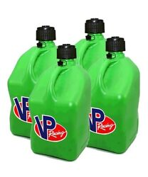 Vp Racing 4-pack Green Square Fuel Jugs Gas Can Alcohol Diesel Container Atv Utv