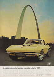 St Louis and another spirited event Chevrolet Corvette ad 1967 NY $9.99