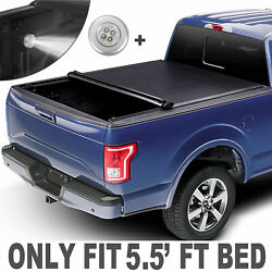 5.5 Ft Bed Roll Up Truck Tonneau Cover For 09-20 Ford F-150 On Top Waterproof