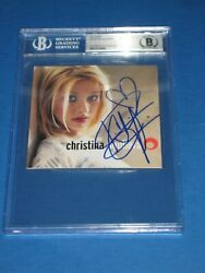 Christina Aguilera Signed Self-titled Debut Cd Beckett Authenticated And Encap