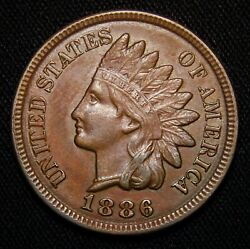 1886-type2 Indian Head Penny, Sharp Uncirculated