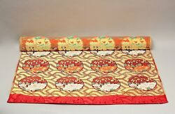 Rare Nos Silk Fabric For Buddhist Temple Use Early 20th Century Ff65